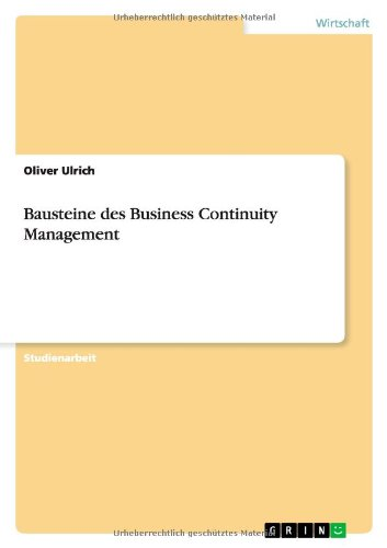 9783640892952: Bausteine des Business Continuity Management