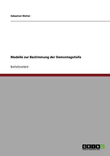 Modelle Zur Bestimmung Der Demontagetiefe: Sebastian Walter