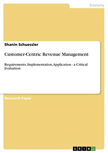 9783640921799: Customer-Centric Revenue Management