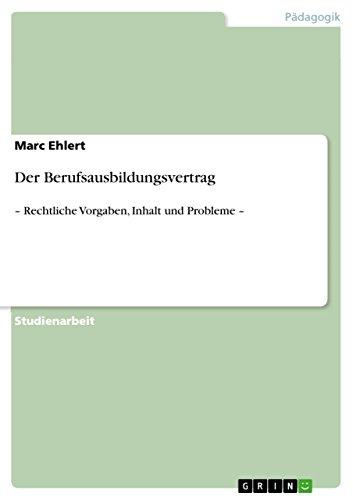 Der Berufsausbildungsvertrag: Marc Ehlert