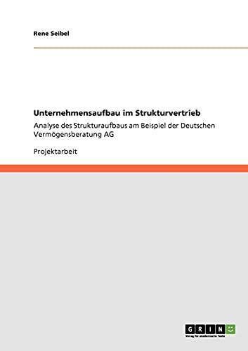 9783640940394: Unternehmensaufbau Im Strukturvertrieb (German Edition)