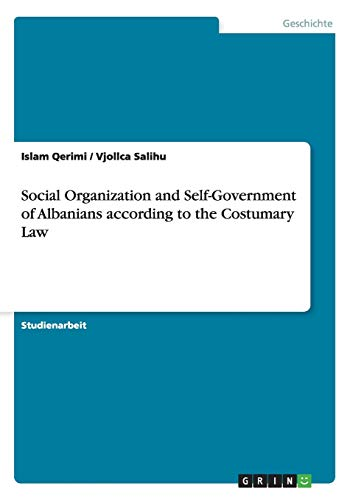Some Aspects of Research on social Organization: Qerimi, Islam; Salihu,