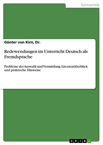 9783640950256: Redewendungen im Unterricht Deutsch als Fremdsprache
