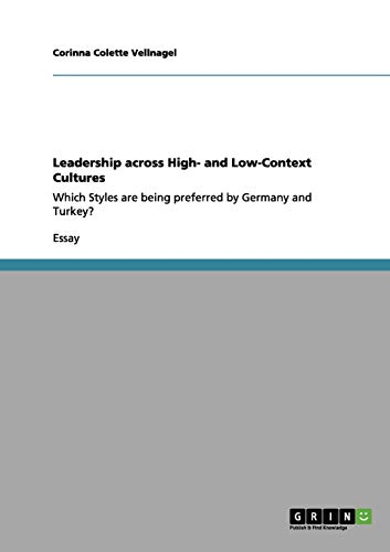 9783640956708: Leadership across High- and Low-Context Cultures