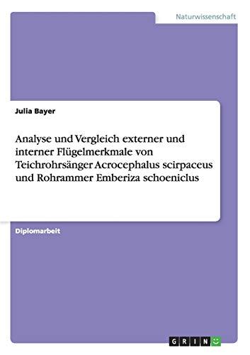 Analyse Und Vergleich Externer Und Interner Flugelmerkmale Von Teichrohrsanger Acrocephalus ...