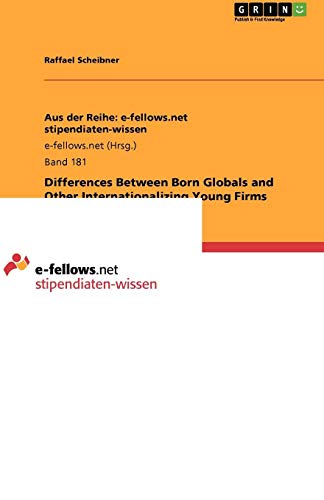 9783640980949: Differences Between Born Globals and Other Internationalizing Young Firms