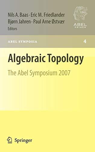 Algebraic Topology: The Abel Symposium 2007 (Hardback)