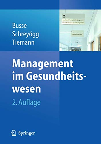 9783642013355: Management im Gesundheitswesen