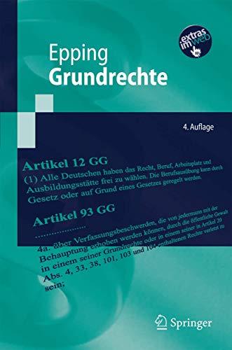 9783642014468: Grundrechte (Springer-Lehrbuch) (German Edition)