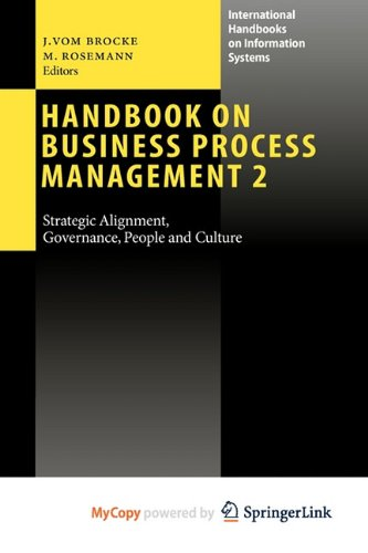 9783642019838: Handbook on Business Process Management 2