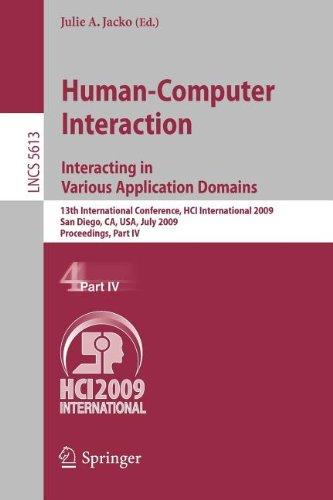 9783642025846: Human-Computer Interaction. Interacting in Various Application Domains