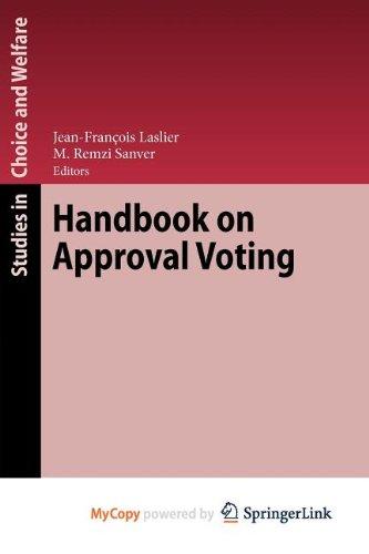 9783642028403: Handbook on Approval Voting