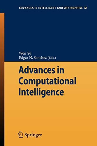 Advances in Computational Intelligence Advances in Intelligent and Soft Computing
