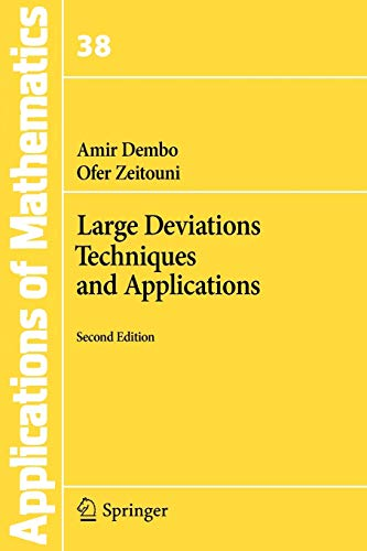 9783642033100: Large Deviations Techniques and Applications (Stochastic Modelling and Applied Probability)