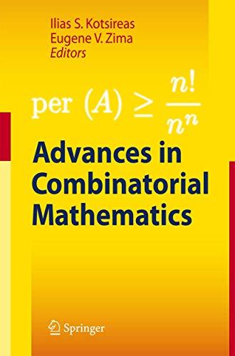 9783642035616: Advances in Combinatorial Mathematics