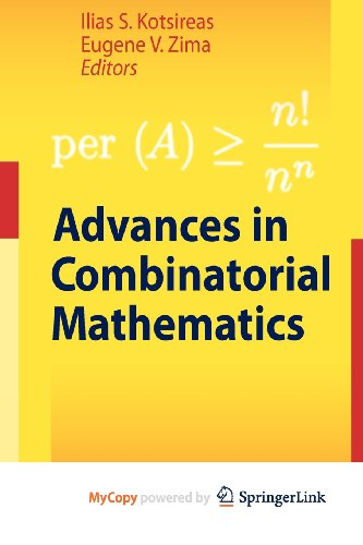 9783642035883: Advances in Combinatorial Mathematics
