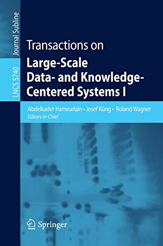 9783642037214: Transactions on Large-Scale Data- and Knowledge-Centered Systems I (Lecture Notes in Computer Science)