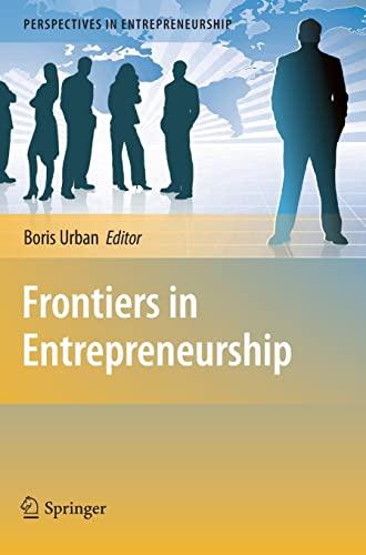 9783642045011: Frontiers in Entrepreneurship (Perspectives in Entrepreneurship)