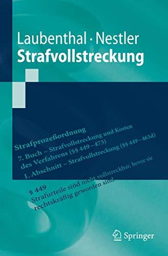 9783642052859: Strafvollstreckung (Springer-Lehrbuch)