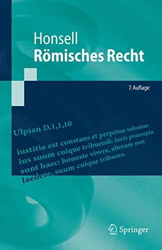 9783642053061: Römisches Recht (Springer-Lehrbuch) (German Edition)