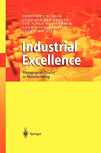 9783642055379: Industrial Excellence: Management Quality in Manufacturing
