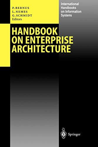 9783642055669: Handbook on Enterprise Architecture (International Handbooks on Information Systems)
