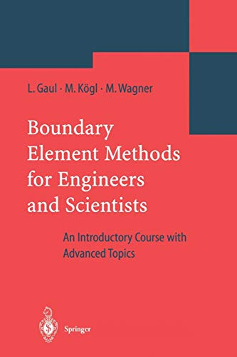 9783642055898: Boundary Element Methods for Engineers and Scientists: An Introductory Course with Advanced Topics