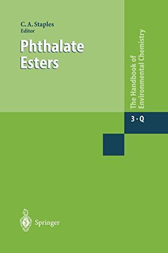 9783642056765: Phthalate Esters (The Handbook of Environmental Chemistry)