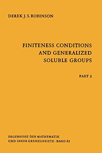 9783642057120: Finiteness Conditions and Generalized Soluble Groups