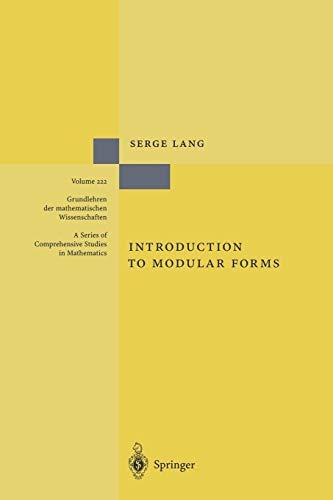 9783642057168: Introduction to Modular Forms (Grundlehren der mathematischen Wissenschaften)
