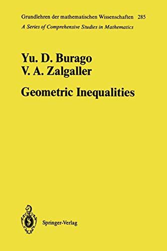 9783642057243: Geometric Inequalities (Grundlehren der mathematischen Wissenschaften)