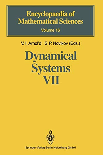 Dynamical Systems VII: Integrable Systems. Nonholonomic Dynamical: V.I. Arnol'd (Editor),