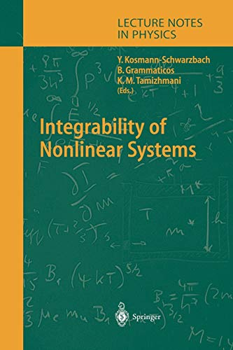 9783642058356: Integrability of Nonlinear Systems (Lecture Notes in Physics)