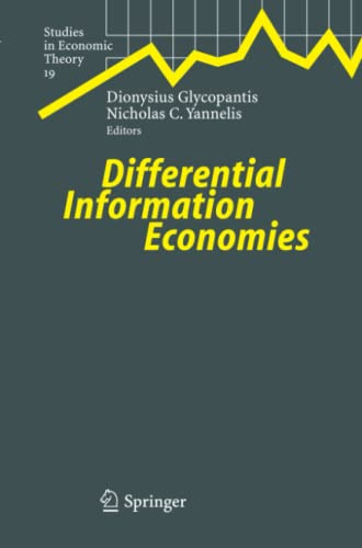 Differential Information Economies Studies in Economic Theory
