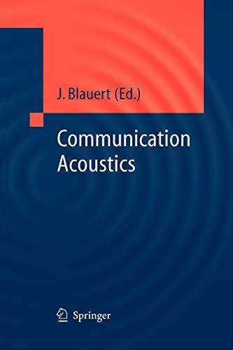 9783642060601: Communication Acoustics