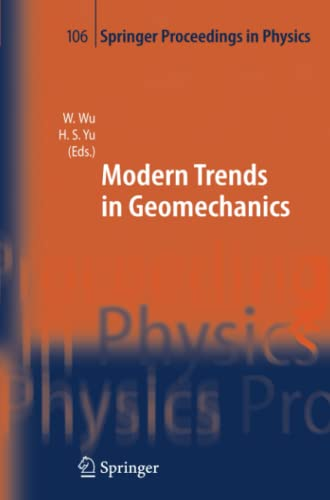 Modern Trends in Geomechanics Springer Proceedings in Physics