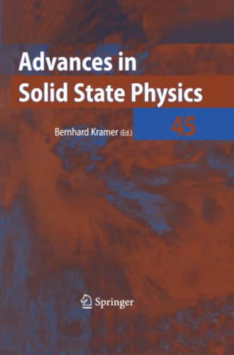 9783642065347: Advances in Solid State Physics 45