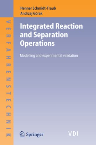 9783642067631: Integrated Reaction and Separation Operations: Modelling and experimental validation