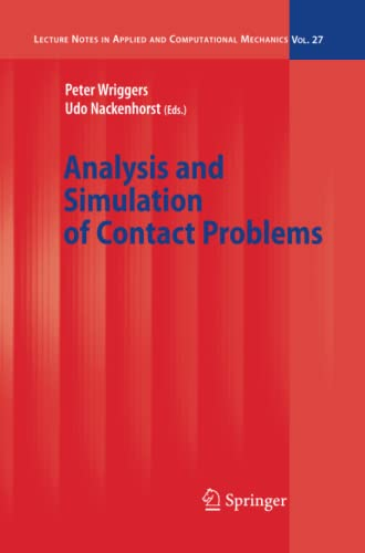 9783642068614: Analysis and Simulation of Contact Problems (Lecture Notes in Applied and Computational Mechanics)