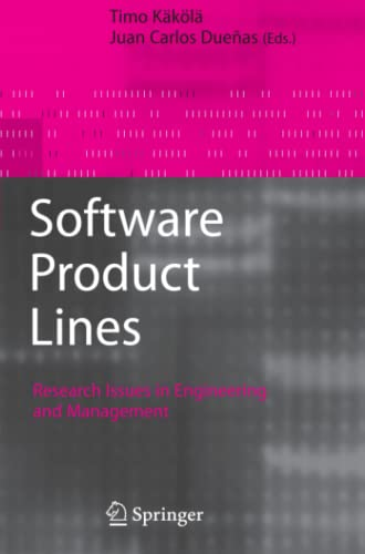 9783642069864: Software Product Lines: Research Issues in Engineering and Management