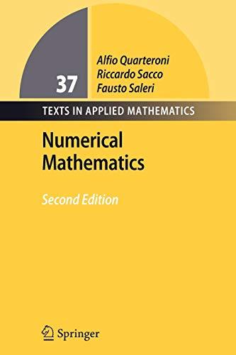 9783642071010: Numerical Mathematics (Texts in Applied Mathematics)