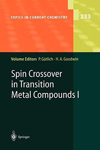 9783642073267: Spin Crossover in Transition Metal Compounds I (Topics in Current Chemistry)