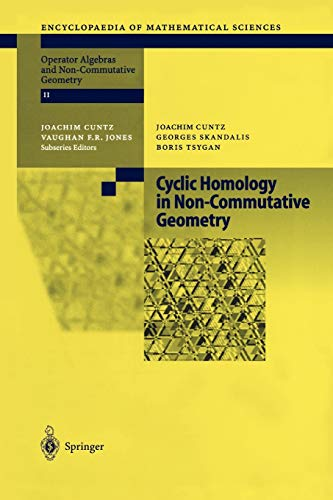 9783642073373: Cyclic Homology in Non-Commutative Geometry (Encyclopaedia of Mathematical Sciences)