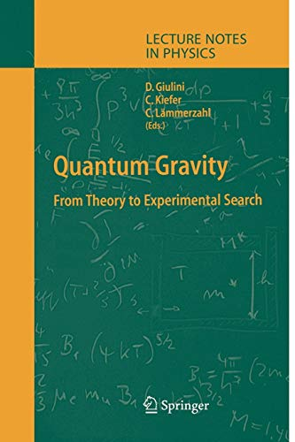 9783642074028: Quantum Gravity: From Theory to Experimental Search (Lecture Notes in Physics)