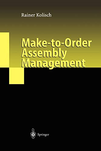 9783642074318: Make-to-Order Assembly Management