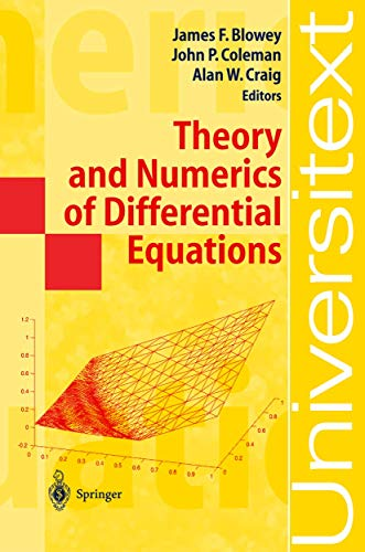 9783642075339: Theory and Numerics of Differential Equations: Durham 2000 (Universitext)