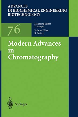 9783642077067: Modern Advances in Chromatography (Advances in Biochemical Engineering/Biotechnology)