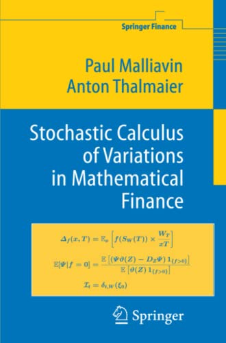 9783642077838: Stochastic Calculus of Variations in Mathematical Finance (Springer Finance)