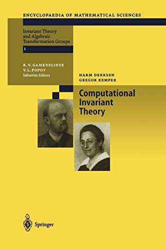 9783642077968: Computational Invariant Theory (Encyclopaedia of Mathematical Sciences)