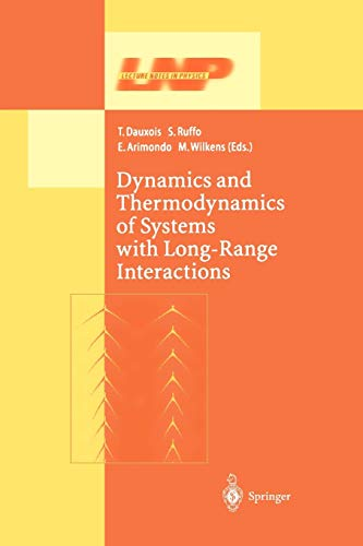 9783642079283: Dynamics and Thermodynamics of Systems with Long Range Interactions (Lecture Notes in Physics)